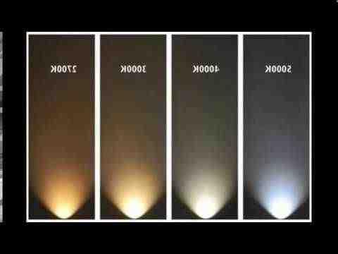 Comment choisir la température de couleur?